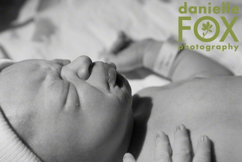 Newborn baby boy at mercy hospital